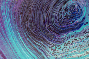 Space Vortex Acrylic Painting