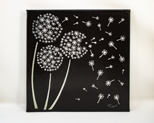 Dandelion Breeze Acrylic Painting