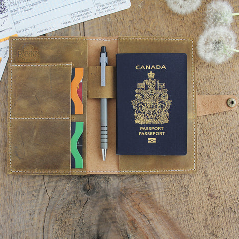 Passport Wallet: Ochre