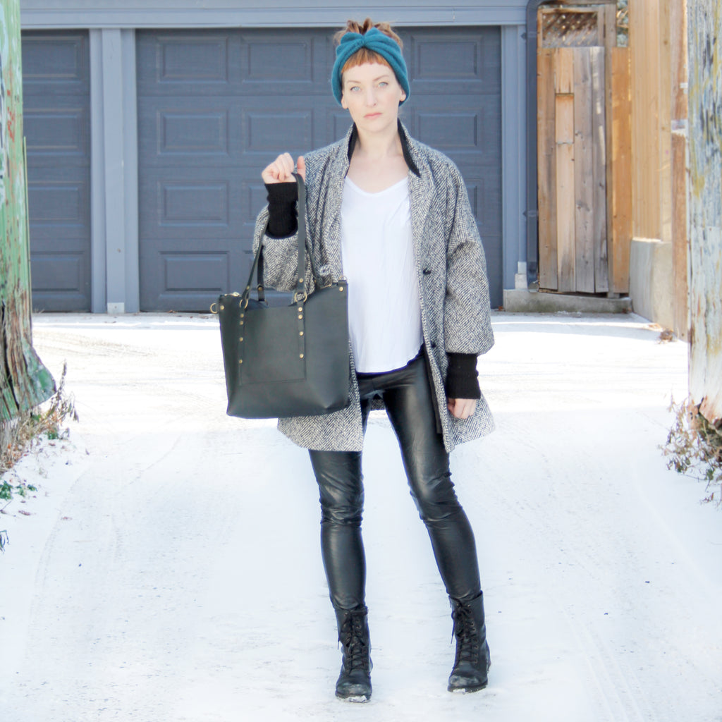 Leighton Tote: Black and Brass No. 10