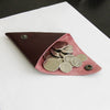 Triangle Coin Purse - Wine