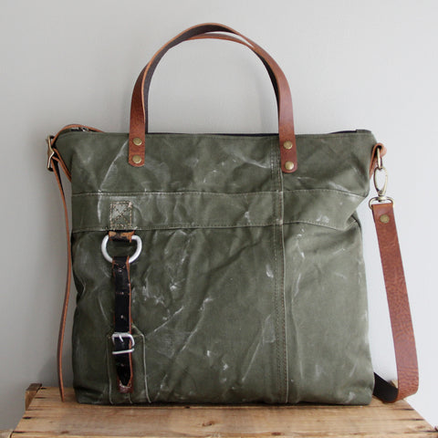 SOLD: Military Tote No. 9