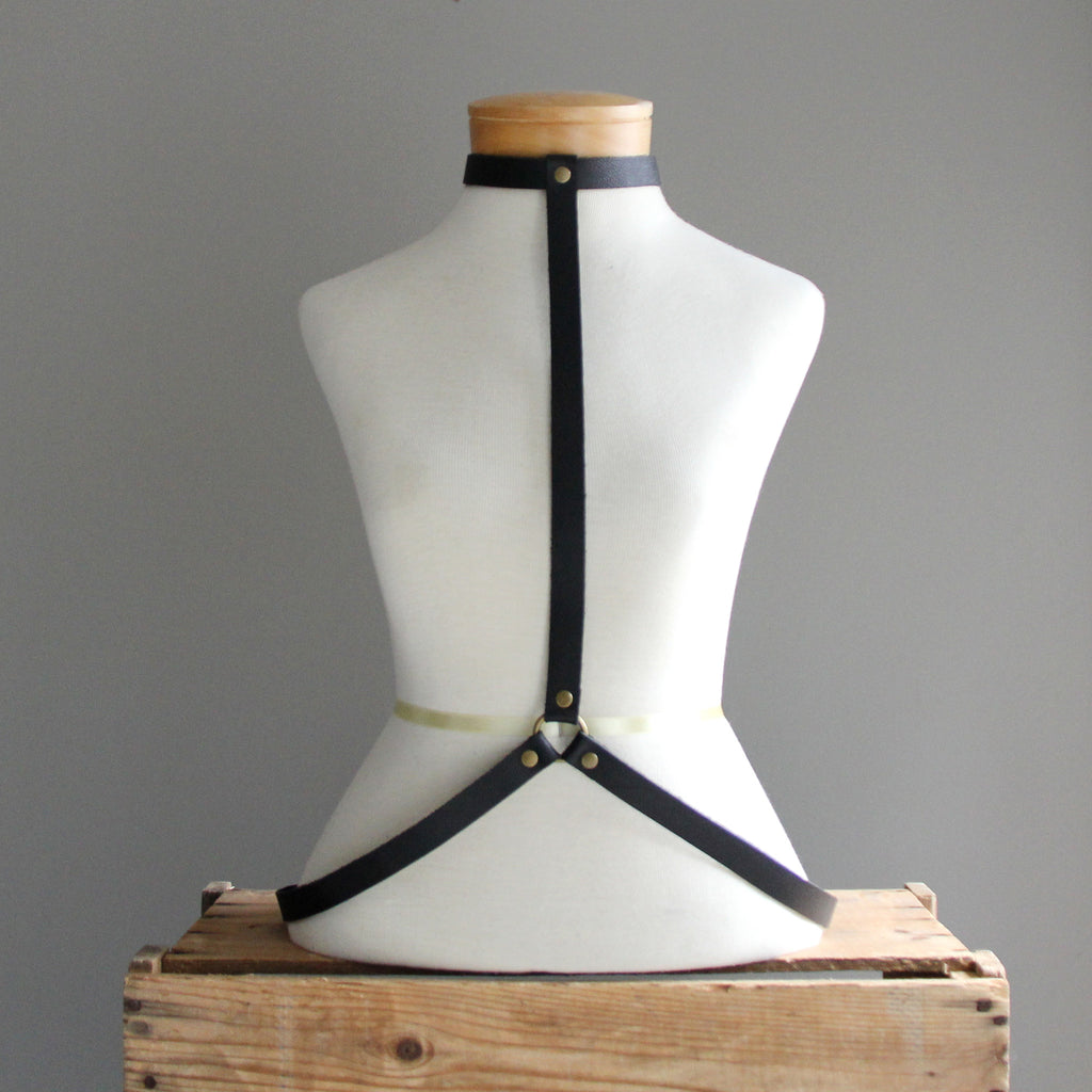Leather Harness: Skinny Tie