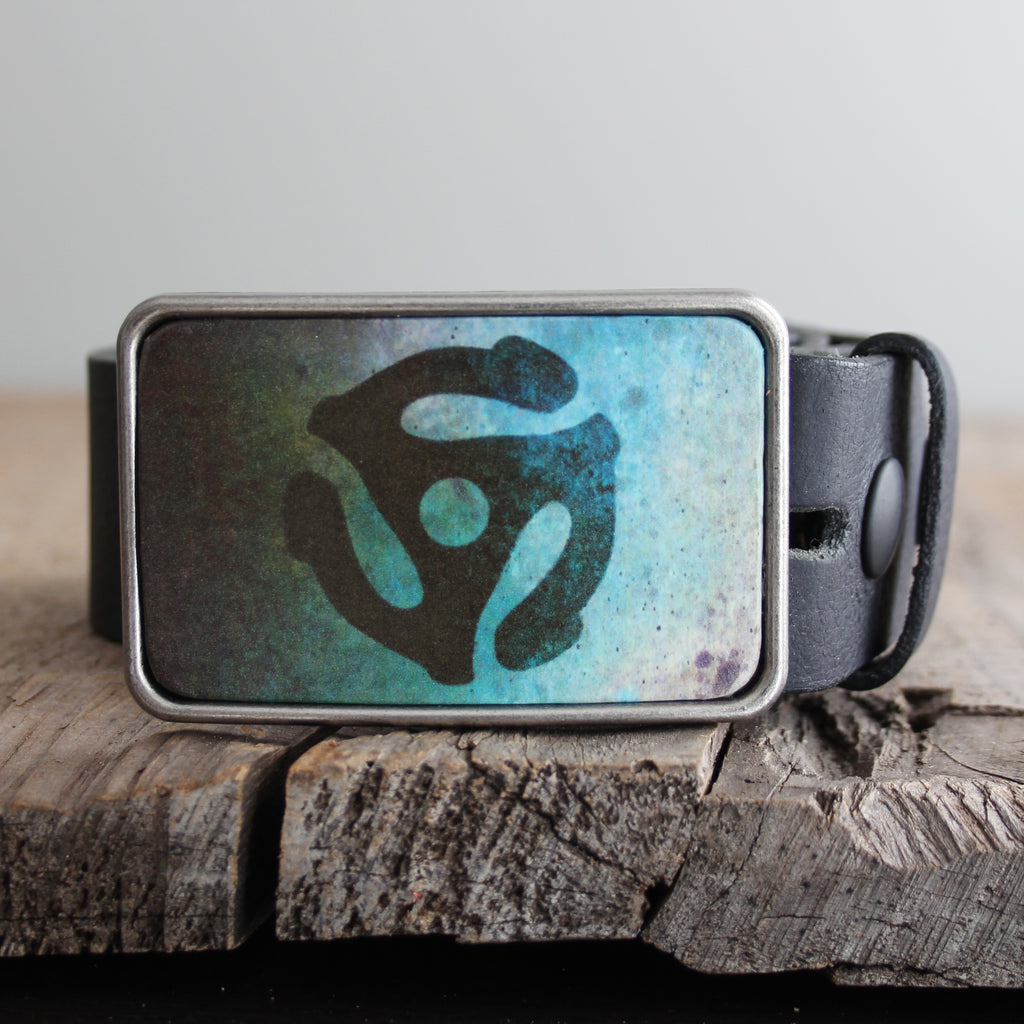 Belt Buckle: Spider Teal