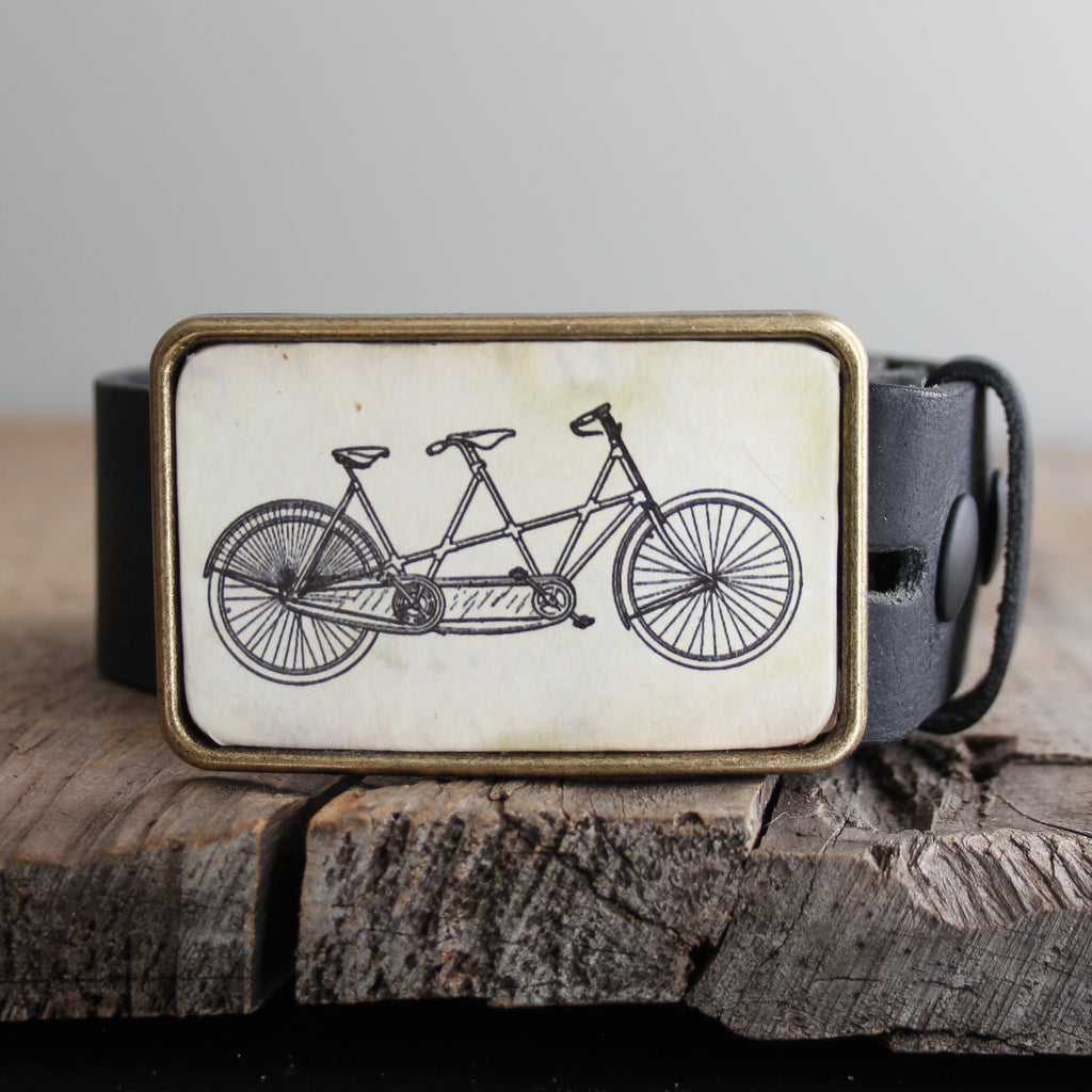 Belt Buckle: Tandem Bicycle