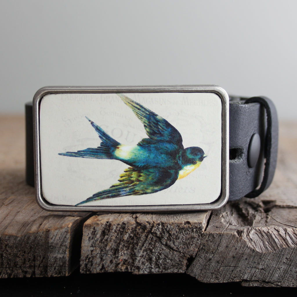 Belt Buckle: Swallow