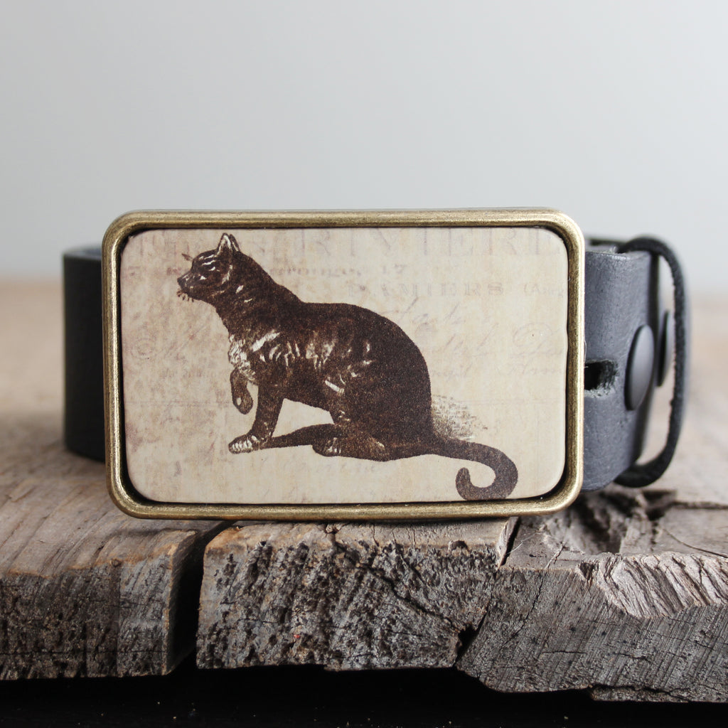 Belt Buckle: Cat