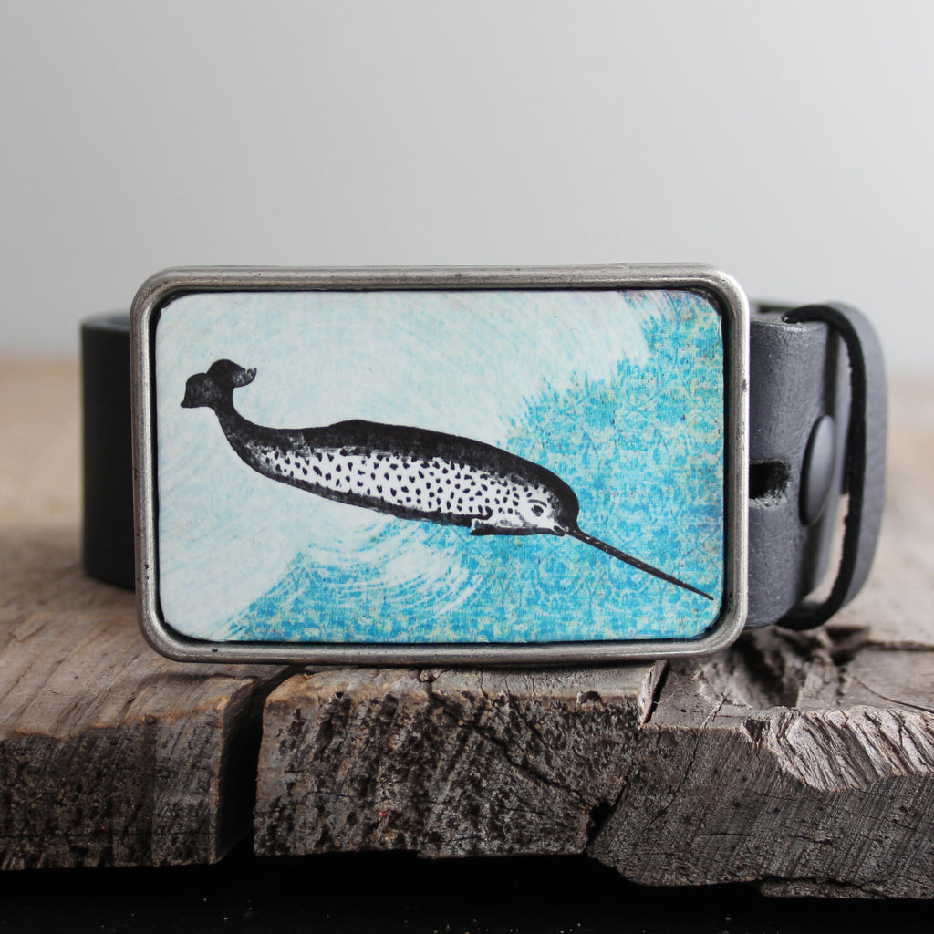 Belt Buckle: Narwhal
