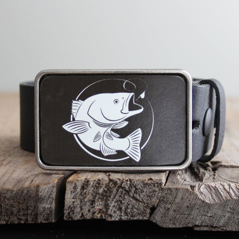 Belt Buckle: Bass Fish