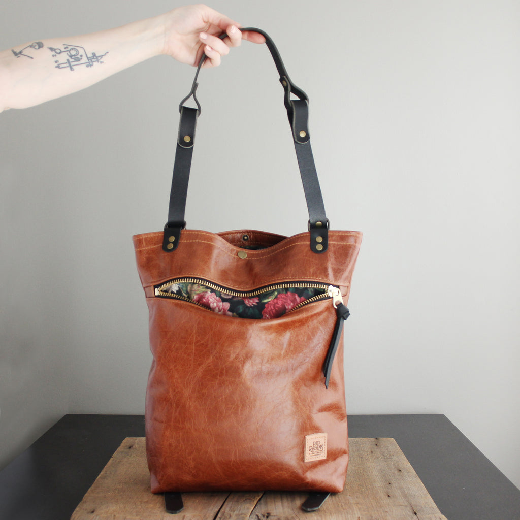 Convertible Backpack: Cognac Leather No. 4