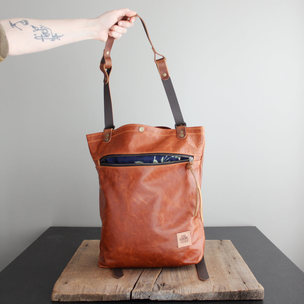 Convertible Backpack: Cognac Leather No. 5