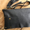 Valerie Leather Clutch: Black