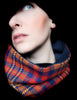 Cowl Scarf: Orange and Navy
