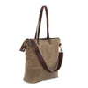 Waxed Canvas Tote in Field Tan