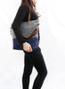 Waxed Canvas Tote in Charcoal and Navy