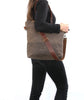 Waxed Canvas Tote in Oak Brown