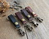 Leather Keychain: Red Brown