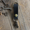 Leather Keychain: Black