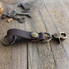 Leather Keychain: Dark Brown