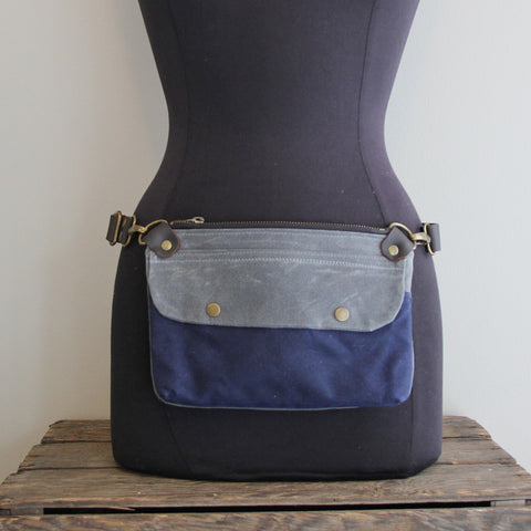 Fanny Pack: Charcoal and Navy