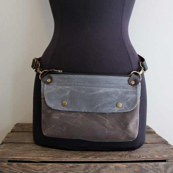 Fanny Pack: Charcoal and Brown