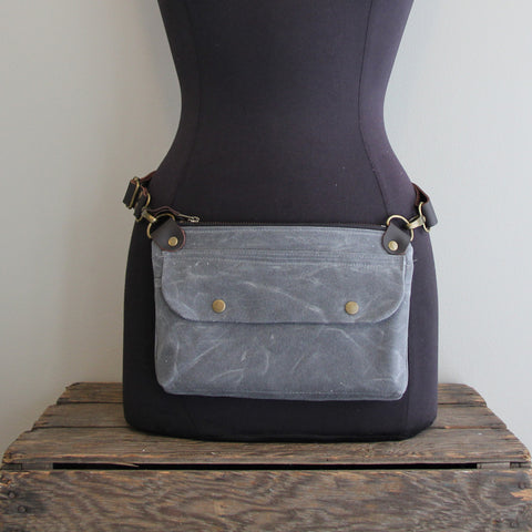 Fanny Pack: Charcoal Blue Grey