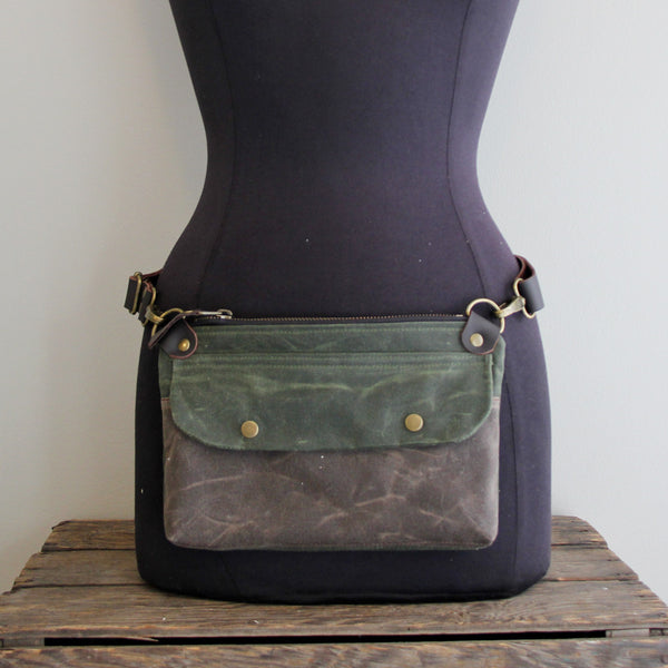 Fanny Pack: Olive and Brown