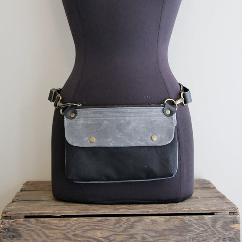 Fanny Pack: Charcoal and Black