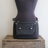 Fanny Pack: Black with Black Leather