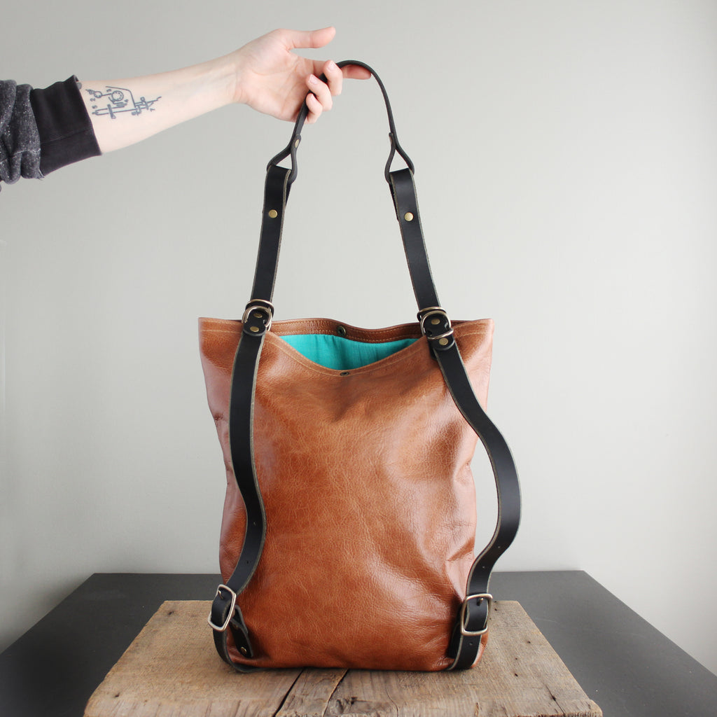Convertible Backpack: Leather No. 8