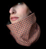Cowl Scarf: Orange and Brown