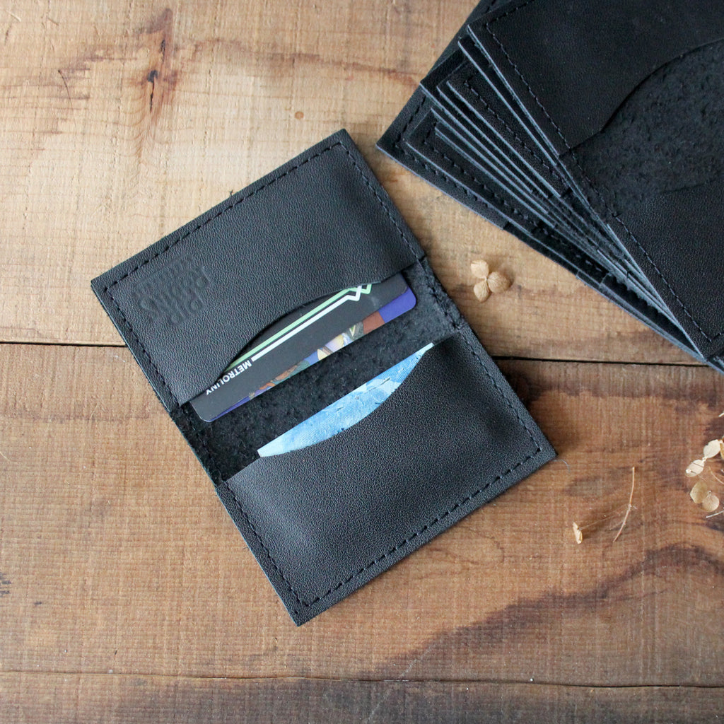 Leather Bifold Wallet: Black