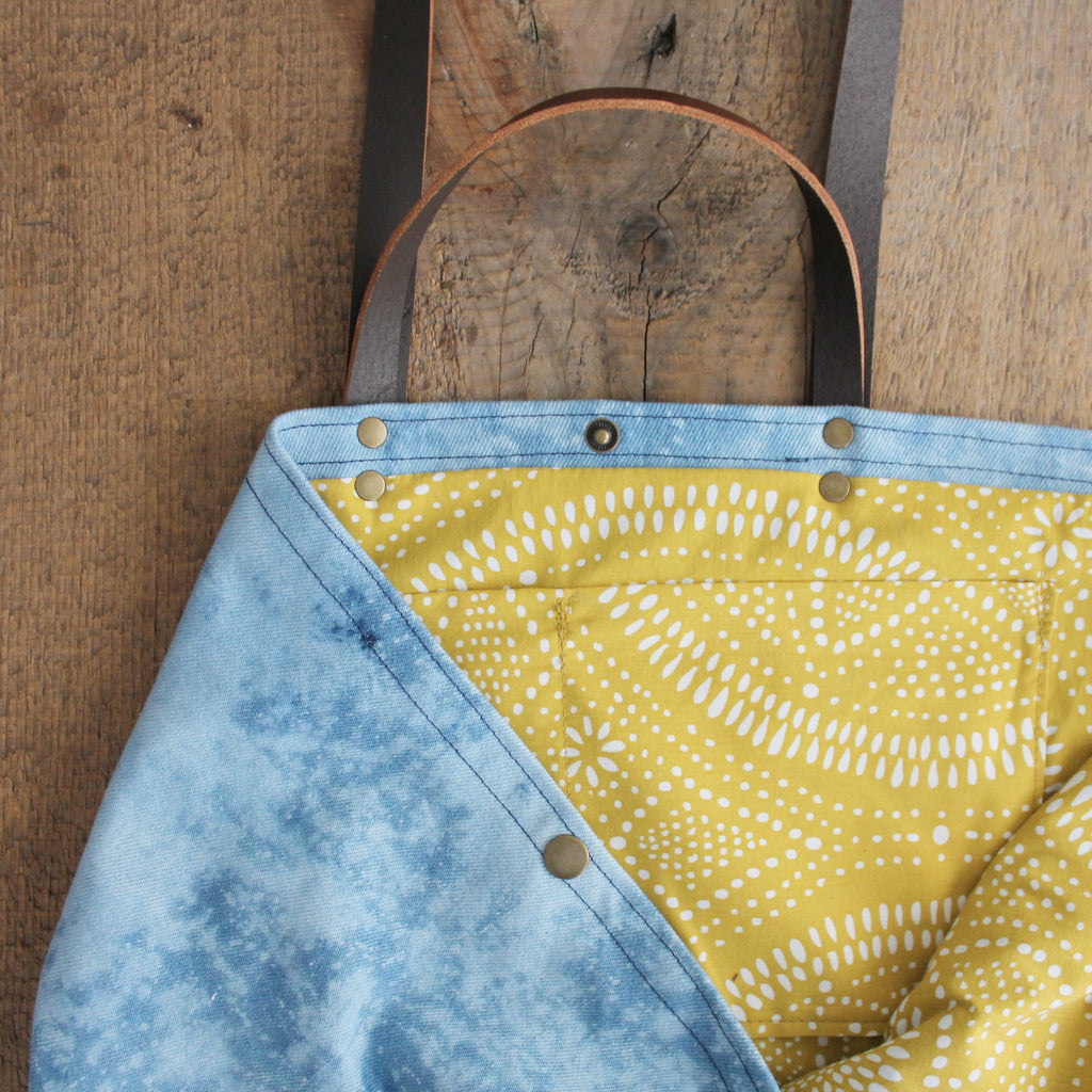 Bleached Denim Mini Maggie Bag: Galaxy