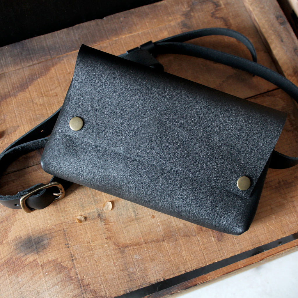 Luna Bag: Black & Brass