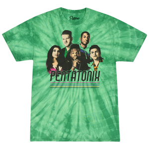 Green Tie Dye Group Tee
