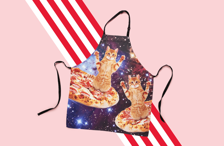 Pizza Cat Apron