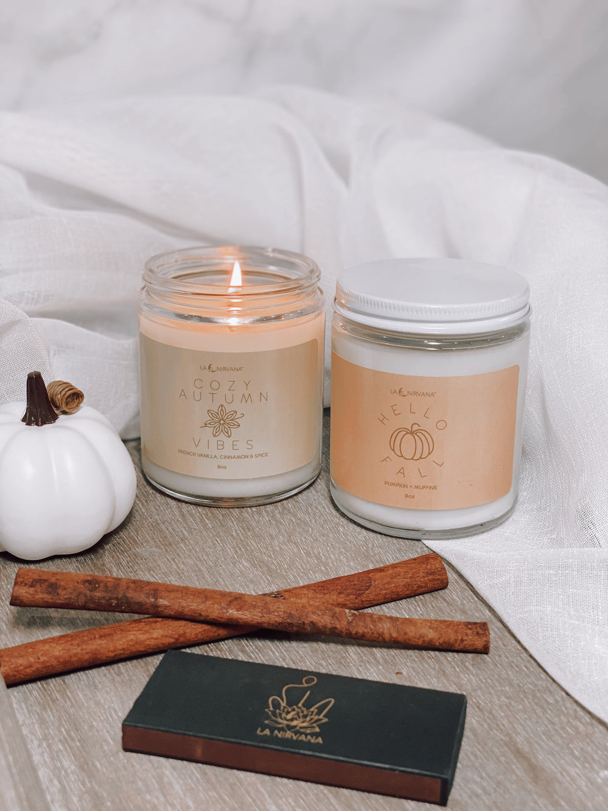 FALL Equinox Soy Candle GIFT Set || Cozy Autumn Vibes Candle || Hello Fall Candle