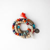 Tri Color Boho Stacked Charm Bracelets