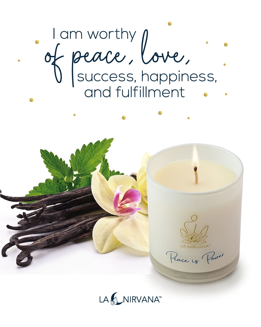 Peace is Power || Patchouli, Vanilla & Musk Scented Candle