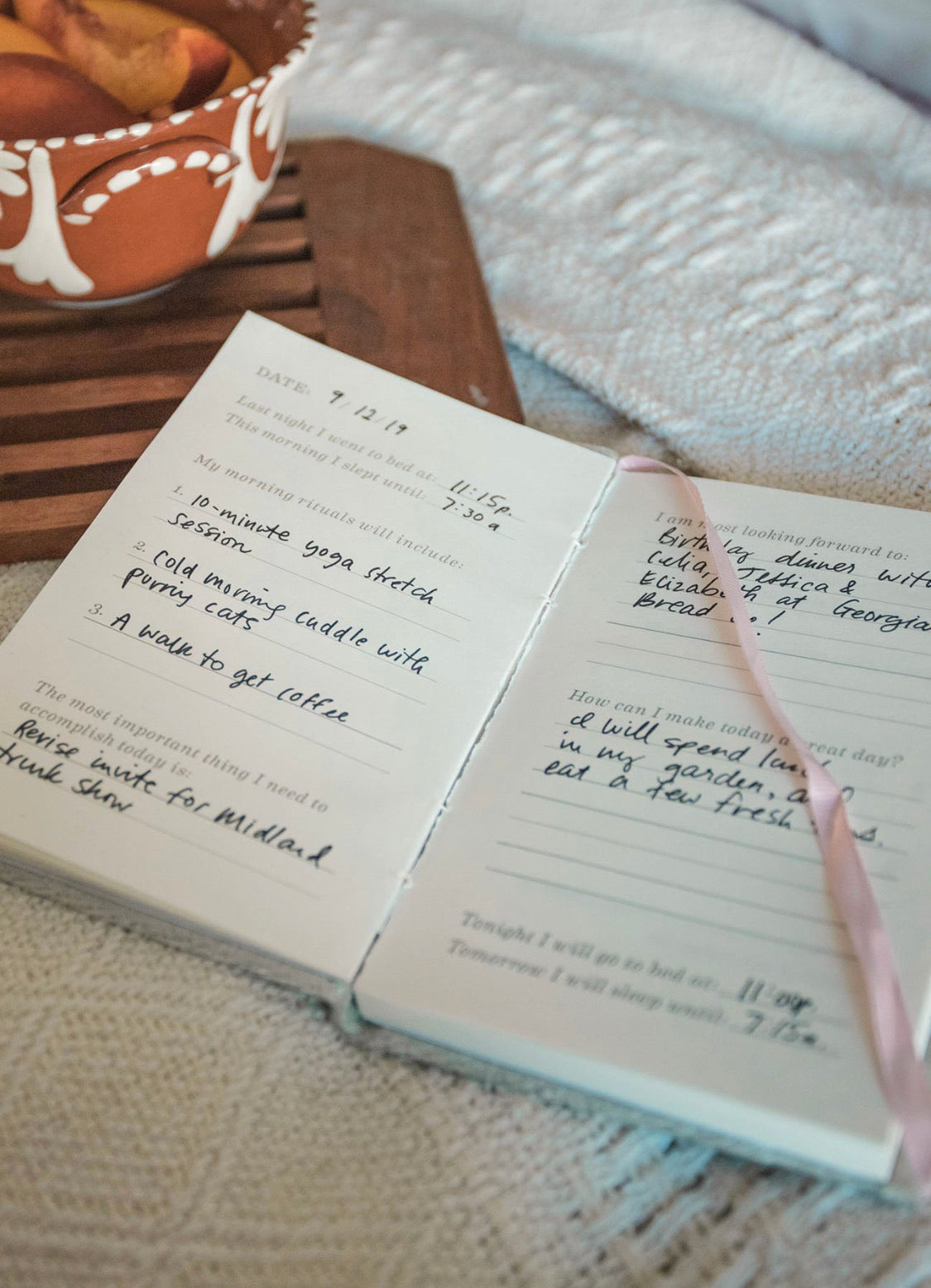 Morning Ritual Guided Journal || GREY