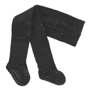 GobabyGo non-slip tights WOOL - Dark grey melange