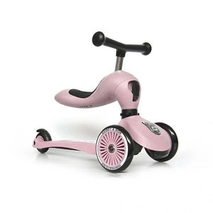 Sparke- og sittesykkel fra Scoot & Ride- 1-4 år - Rose