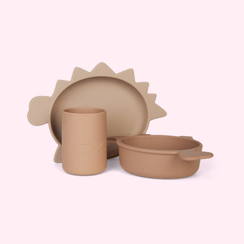 Cyrus silicone junior set - Dino rose multi mix