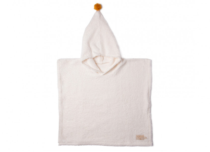 So Cute poncho 55x58 3-5 y white (one size)