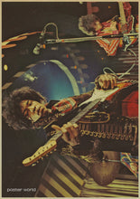 The  Hendrix Jimmy Page Music Class Vintage Retro Decorative Poster  Wall Home Bar Posters Home Decor Gift wall sticket