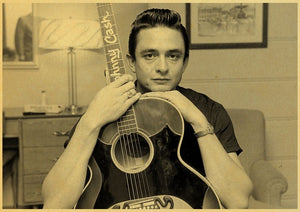 Retro poster Johnny Cash Country Music Singer Wall Sticker vintage style poster Home Wall Decoration