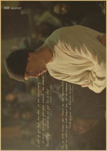 Vintage Poster Eminem The Slim Shady LP 8 Mile A rap singer Bar House Cafe Art Decoration Kraft music Poster Wall sticker