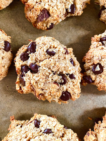 Keto coconut and chocolate chip cookies