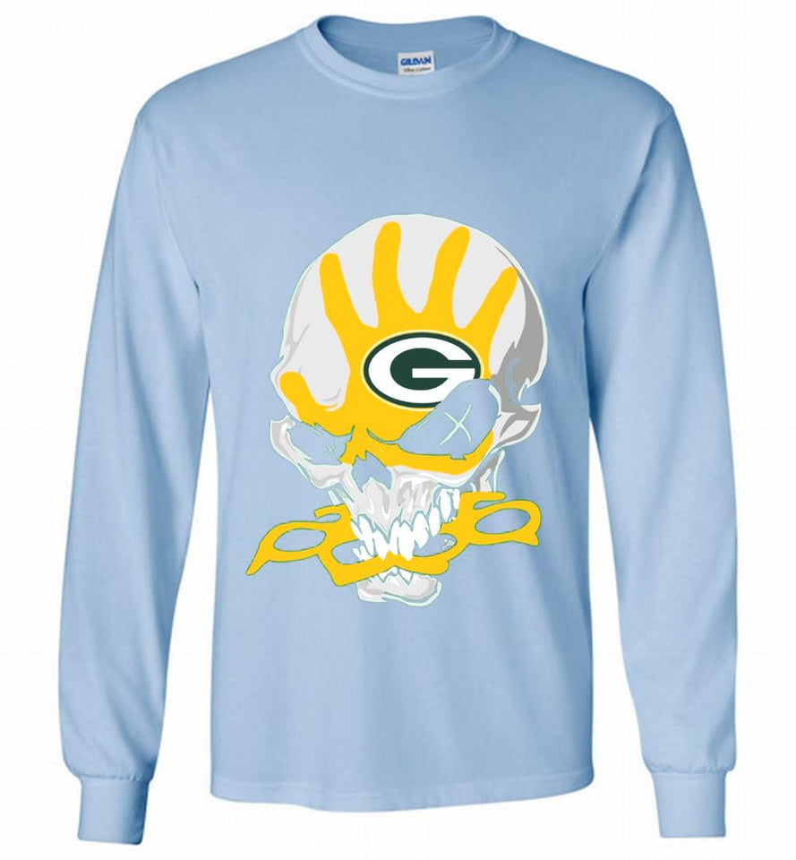 3fb0af959 Skull sketchy GREEN BAY PACKERS Gildan Long Shirt – BELLYTEES