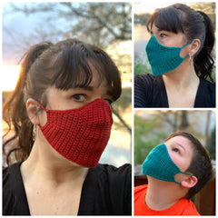 FREE Crochet Face Mask (Four Sizes)
